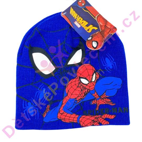 Zimní čepice Spiderman modrá