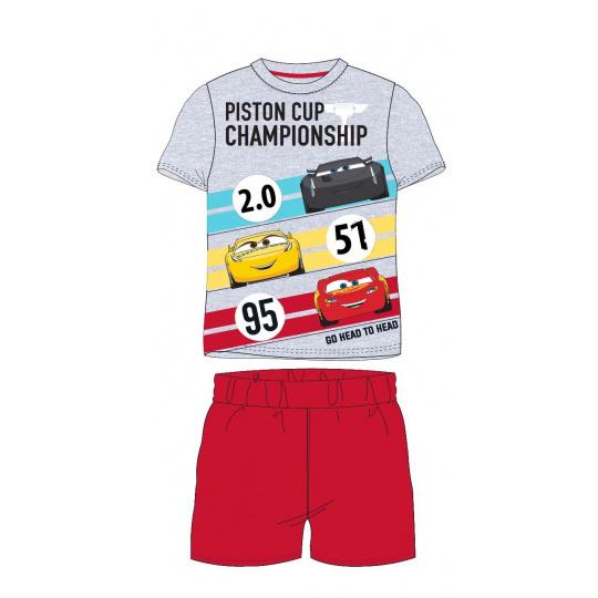 Dětské pyžamo Auta šedé 98-128