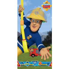 Bavlněná osuška Požárník Sam Blue