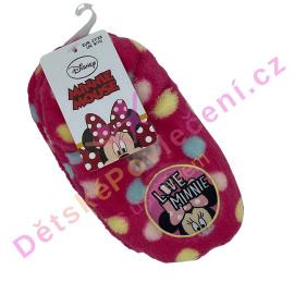 Dívčí papučky Minnie puntíky