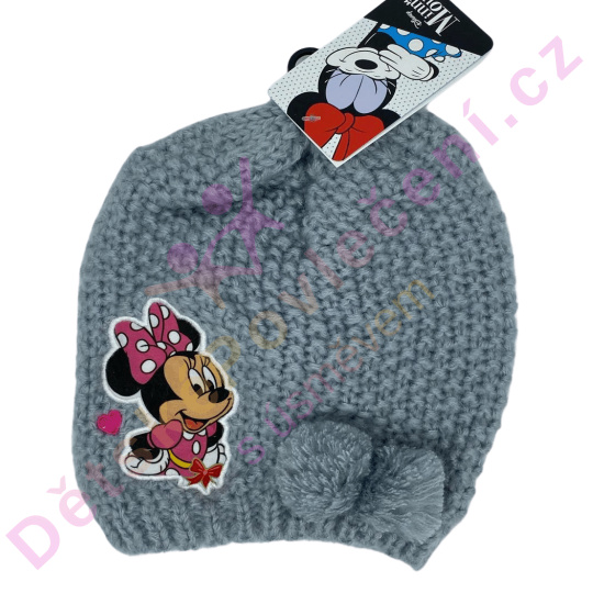 Pletená zimní čepice Disney Minnie