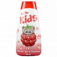 Me Too Sprchový gel + šampon 2v1 Malina