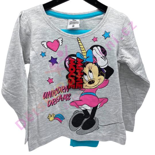 Dívčí pyžamo Disney Minnie Unicorn Dreams - šedé