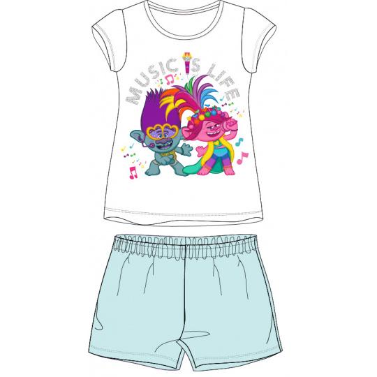 Dětské pyžamo trollové s tyrkysovými kraťasy 98-128