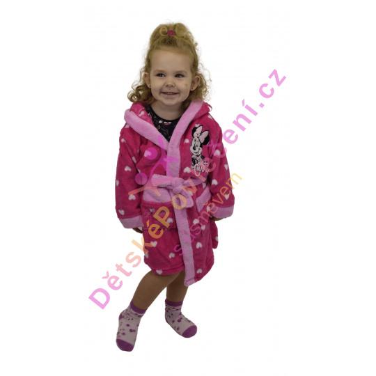 Nádherný dívčí župan Disney Minnie 3-8let