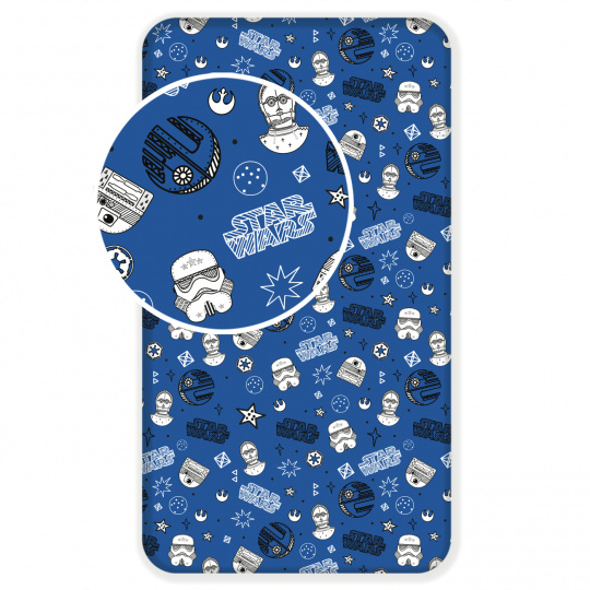 Prostěradlo Star Wars Blue Galaxy
