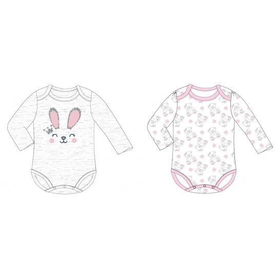 Dívčí kojenecký body set Zajíček a Méďa 68-92