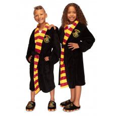 Dětský fleece župan Harry Potter: Hogwarts černá