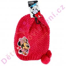 Růžová zimní čepice Minnie