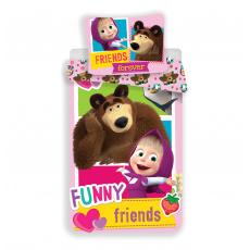 Dětské povlečení Máša a Medvěd Friends 140x200 70x90