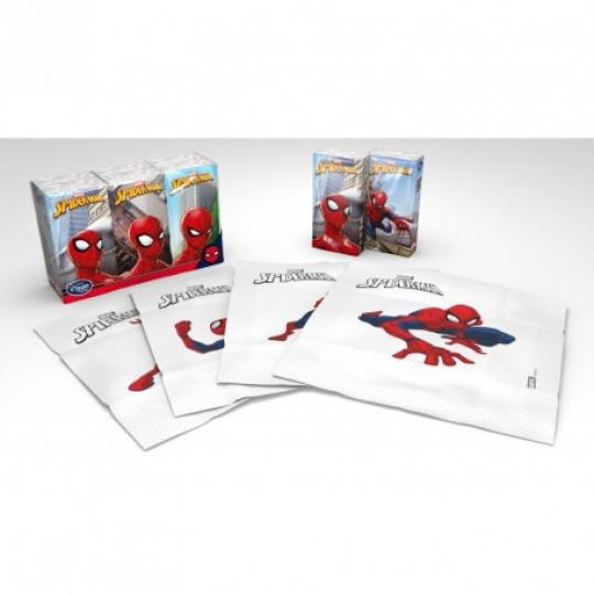 Dětské papírové kapesníky s potiskem Spider-man