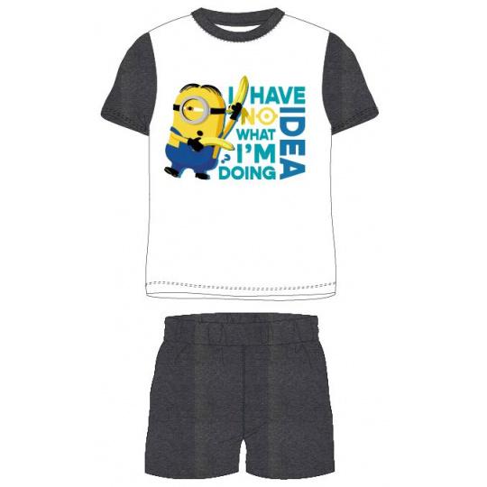 Dětské pyžamo Mimoni bílé s šedou 98-128
