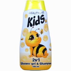 Beauty Line Sprchový gel + šampon 2v1 Včelka